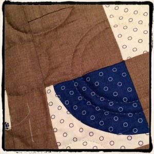 Cuved quilt in progress