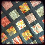 Quilt basted and ready for quilting