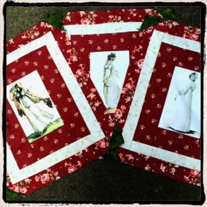 Regency Fashion Plates quilt panels