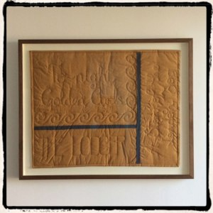 """The Lodger"" Quilt framed"