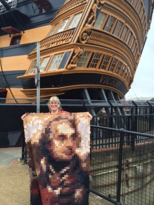 The Nelson Quilt at HMS Victory