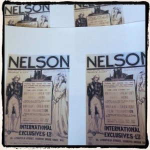 Printing the Nelson advert on to fabric