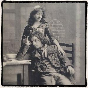 John Martin-Harvey and Nina De Silva as Sydney Carton and Mimi in The Only Way