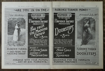 Advertising for Far From the Madding Crowd, Moving Picture World, July 15 1916. Many thanks to the Townly Cooke Collection for the picture.
