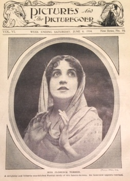 Florence Turner on the cover of Pictures and the Picturegoer, June 6 1914