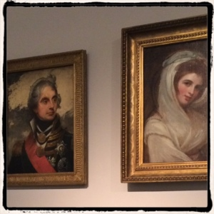 Nelson and Emma Hamilton at the National Portrait Gallery, London, October 2015