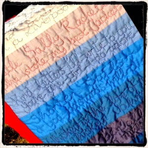 The Shanty Quilt in Progress, 26 October 2015