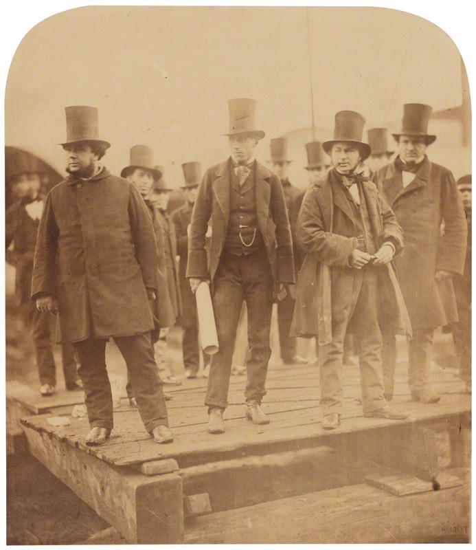 NPG P663; Isambard Kingdom Brunel preparing the launch of 'The Great Eastern' by Robert Howlett