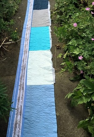 Thames Quilt - up the garden path