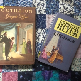 Cotillion. These editions Book Club 1954, Pan 1967.